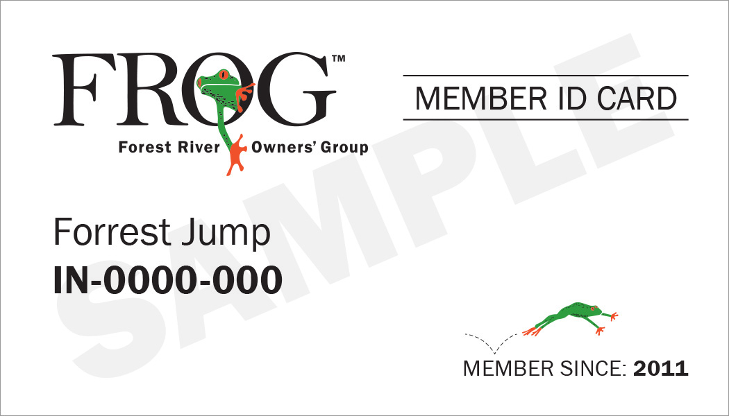 example of printable FROG member ID Card